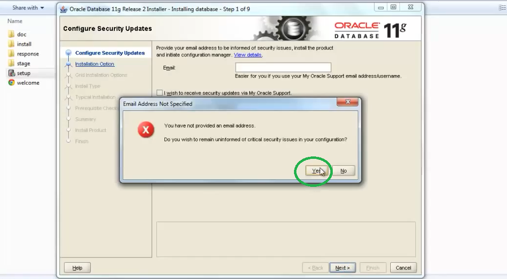 comment installer Oracle 11g sur Windows 8