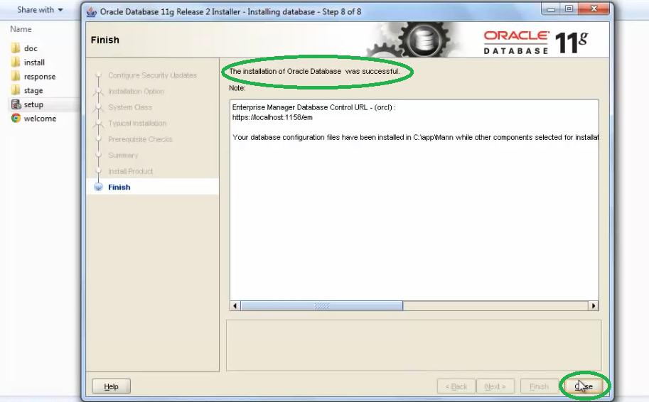 database 11g install